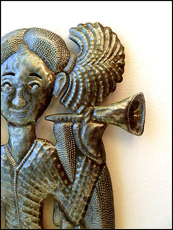 Haitian metal art angel