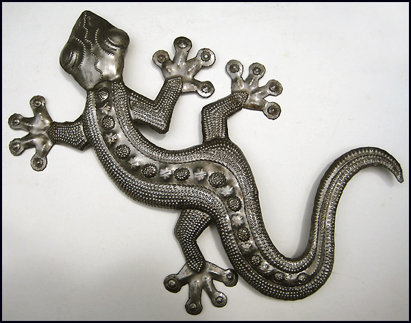 Gecko Wall Art Simple Metal Gecko Wall Art  Metal Wall Hangings  Haitian Steel Drum Art Design Inspiration