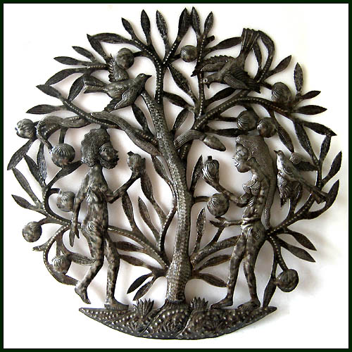 Haitian metal scupture wall decor