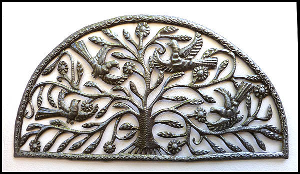 Bird Metal Wall Art haitian metal art bird wall art - steel drum metal art wall hangings