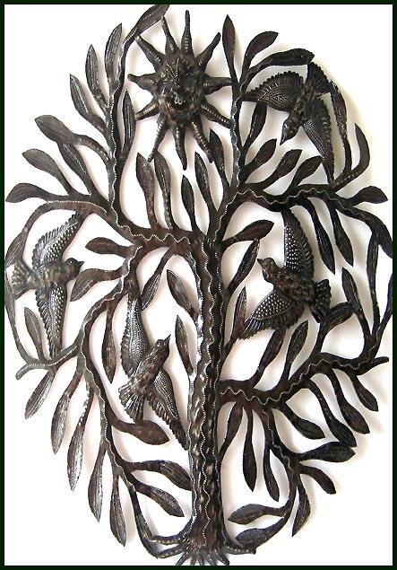 Haitian Metal Art Bird Wall Art - Steel Drum Metal Art Wall Hangings