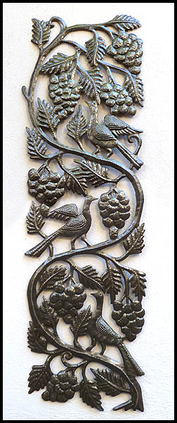 Haitian Metal Art Bird Wall Art - Steel Drum Metal Art Wall Hangings