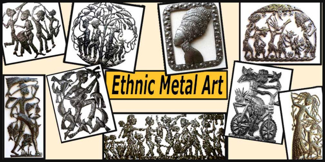 Ethnic art - Haiti Metal art