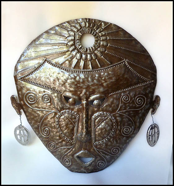 Haitian metal mask design