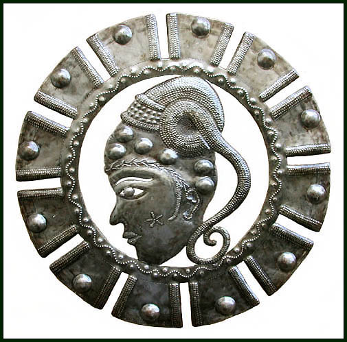 Haitian metal art wall hanging.