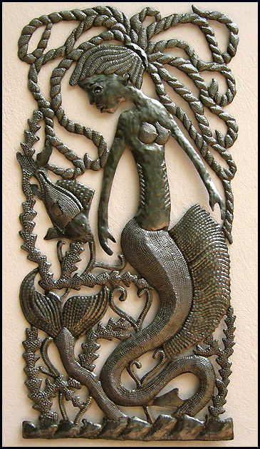 Haitian metal art - mermaid