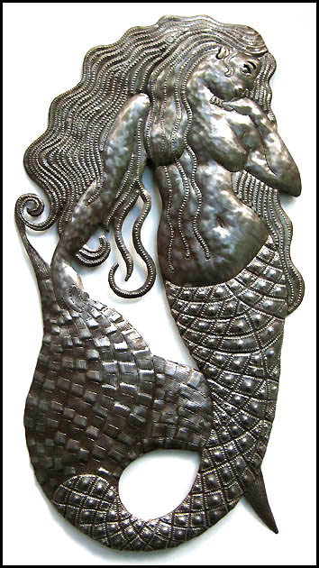 Mermaid Metal Art Wall Hanging - 13