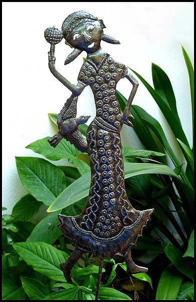 Metal Garden Plant Sticks Stakes Haitian Metal Art