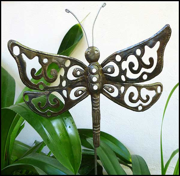 Metal Garden Plant Sticks Stakes Haitian Metal Art Garden Art, Garden Idea