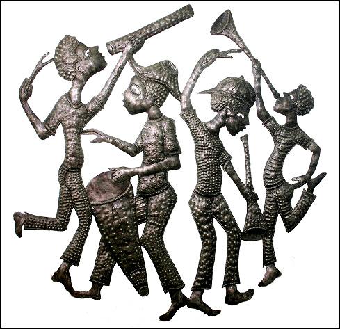 Rural Scenes Ethnic Art Haitian Peasant Designs
