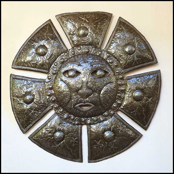 Metal sun wall decor - Haitian steel drum art
