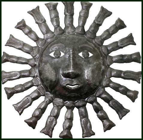 sun metal art haitian metal oil drum sun designs steel