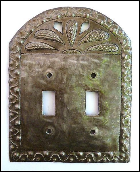 Metal Switchplate Cover - Haitian steel drum art.