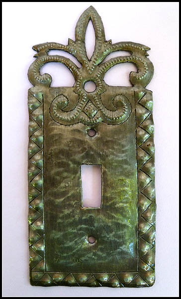Switchplate Cover - Haitian steel drum metal art.