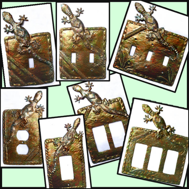 metal switchplates , gecko design. light switch cover