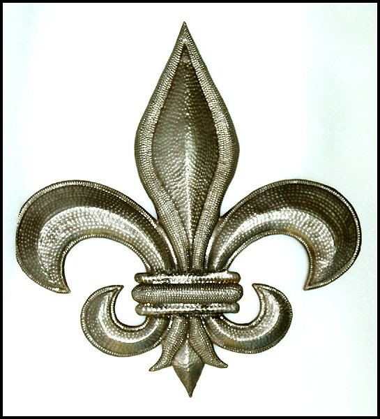 Fleur De Lis Wall Decor traditional - classical designs in handcrafted metal - haiti metal art