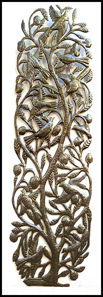 metal tree of life wall art haitian steel drum art wall decor - Large Metal Wall Decor