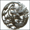 Angel, Moon & Birds Wall Sculpture - Haitian Metal Art Design - 24""