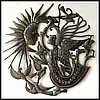 Steel Drum Art Wall Decor of Haiti -  Angel, Sun & Birds - Metal Art - 24""