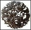 Angels Metal Wall Art - Handcrafted Haitian Steel Drum Metal Art - 34""