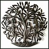 Adam and Eve Metal Wall Hanging - Haitian Wall Decor Wall Sculpture - 24""