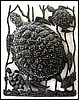 "Handcrafted Turtle Scene - Haitian Metal Drum Art Wall Decor - 17"" x 24"""
