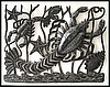"Lobster - Haitian Metal Art Wall Decor & Home Accessories - 24"" x 17"""