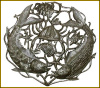 Fish Wall Hanging, Fishing Metal Art Design, Haitian Steel Drum Metal Art - 34""