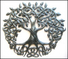 "Irish Metal Art, Metal Tree, Irish Art, Celtic Knot, Steel Drum Metal Art, Metal Wall Art, Celtic Artwork, 24"", Irish Gift, Metal Wall Hanging"