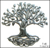 Metal Tree, Metal Wall Hanging, Tree of Life, Metal Art of Haiti, Haitian Steel Drum Art- 24""