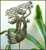 "Garden Decor - Metal Angel Plant Stake - Haitian Recycled Steel Drum Art - 11"" x 12"""
