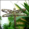 "Dragonfly Plant Marker - Metal Plant Stakes - Garden Decor Plant Stick - 9 1/2"" x 11 1/2"""
