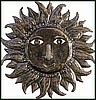 Sun Design Metal Wall Hanging, Haitian Steel Drum Metal Art, Metal Wall Art, 24""