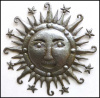 Haitian Recycled Steel Drum Art - Handcrafted Sun Metal Art Wall Hanging - 34""