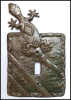 Metal Switchplate, Gecko Switch Plate Cover - Single Metal Light Switch Covers
