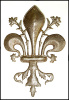 "Fleur de Lys Metal Wall Hanging - Recycled Steel Drum Art - 21"" x 14 1.2"""