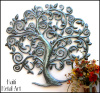 Tree of Life, Metal Tree Wall Art, Metal Tree Wall Hanging, Haitian Metal Art - 34""