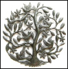 Haiti Metal Art Wall Hanging, Haitian Recycled Steel Drum Art, Tree and Birds Wall Art - 24""