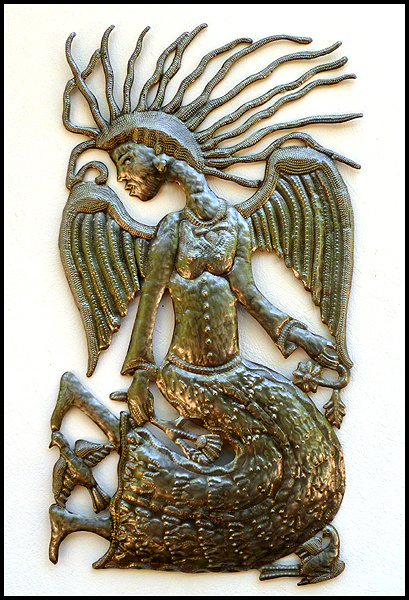 Angel metal wall hanging - Haitian steel drum