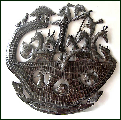 Noah's Ark Metal Art Wall Hanging