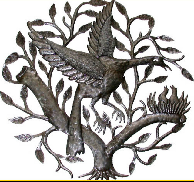 Metal Bird wall art, Haiti metal art