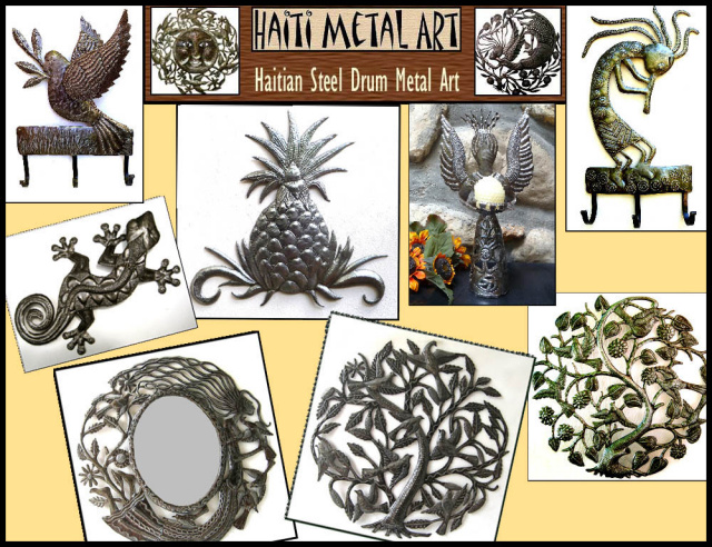 Haiti Metal Art - Recycled steel drums