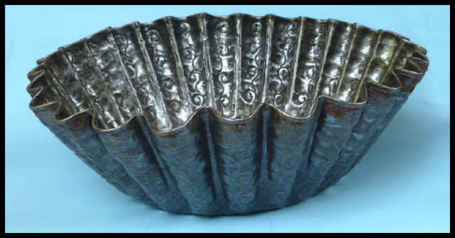 metal bowl, Haitian metal art - steel drum metal art