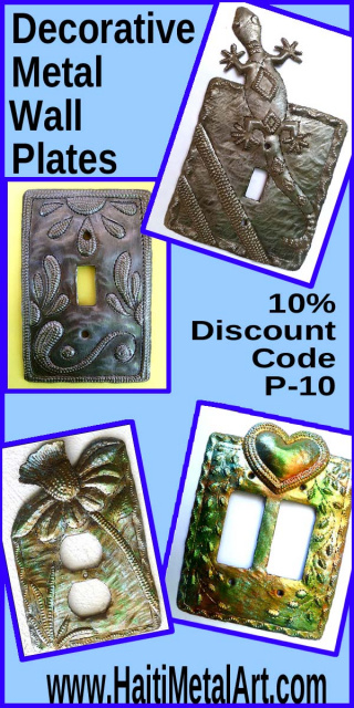 Switchplate Covers - Haiti Metal Art
