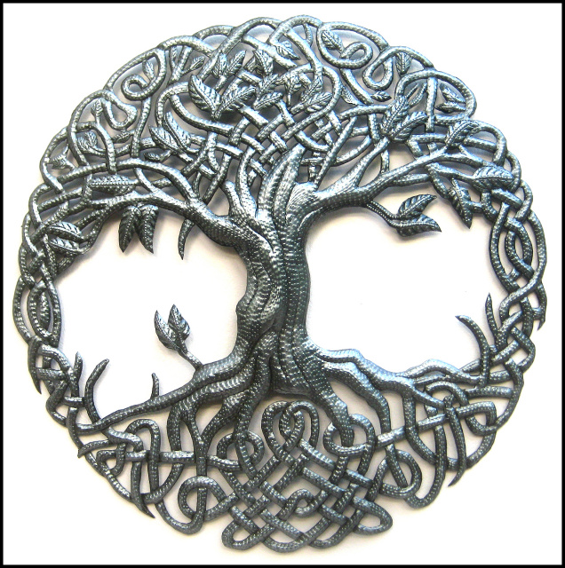 Tree of life, Celtic knot, tree wall art, Haiti Metal Art