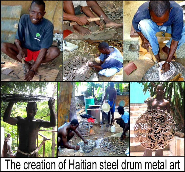 making steel drum metal art -  - Haiti Metal Art - www.haitimetalart.com