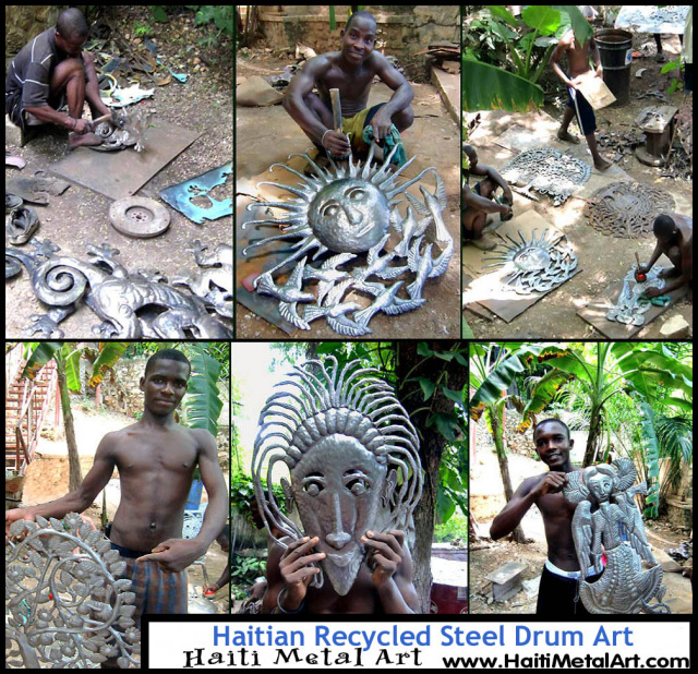 Haiti Metal Art - steel drum art