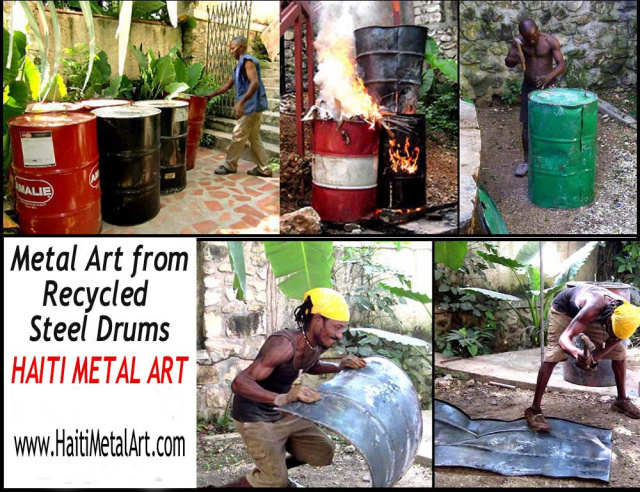 Haitian steel drum metal ar