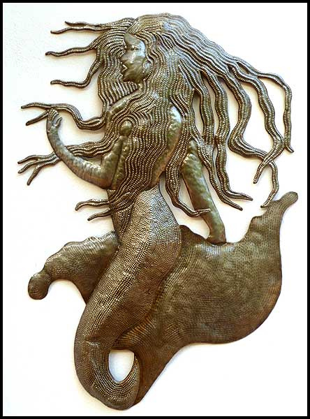 metal mermaid- Haitian metal art