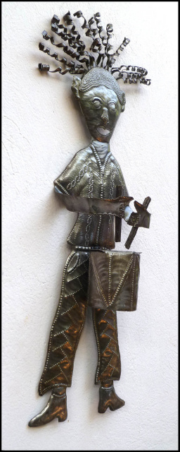 Haitian metal art - steel drum art - drummer